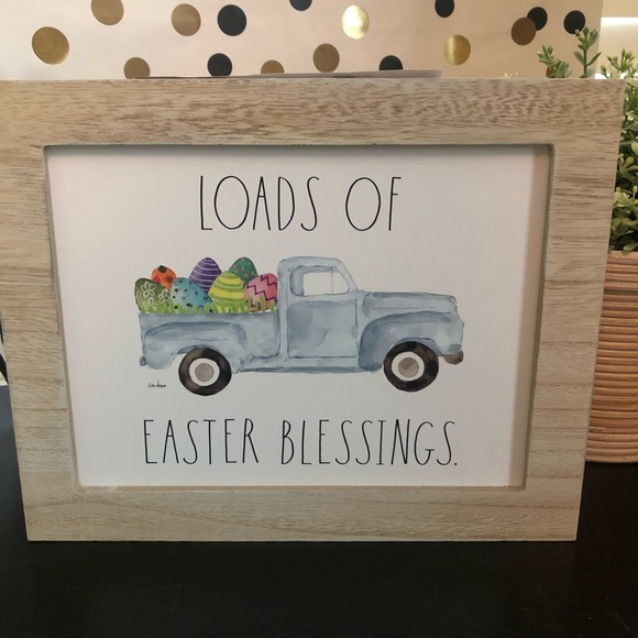 Rae Dunn LOADS OF EASTER BLESSINGS wooden sign